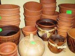 Купить глиняные горшки для цветов дешево