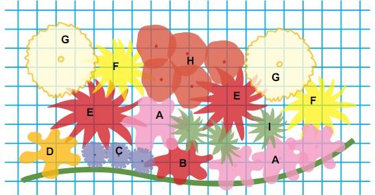 1 квадрат на схеме – 1 х 1 фут