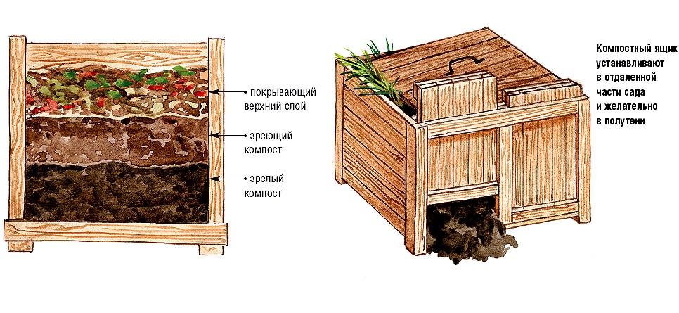 Устройство компостной кучи на даче своими руками