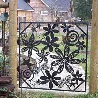 Идеи для красивой садовой калитки