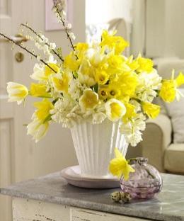 Фото цветы букеты в ведре 5