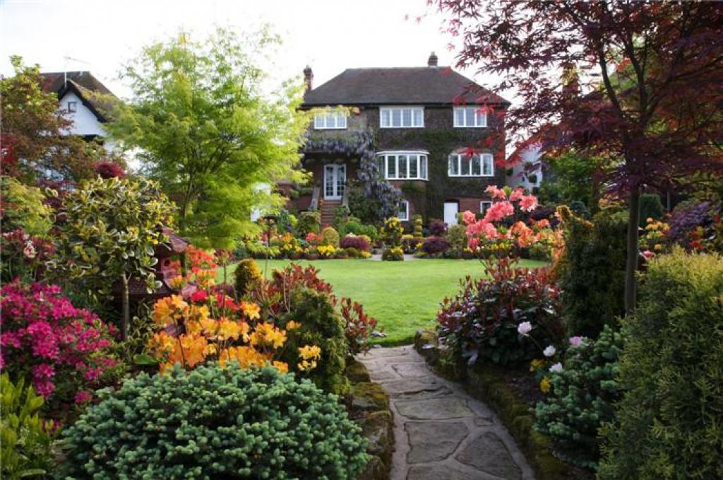 Английский ландшафтный дизайн фото