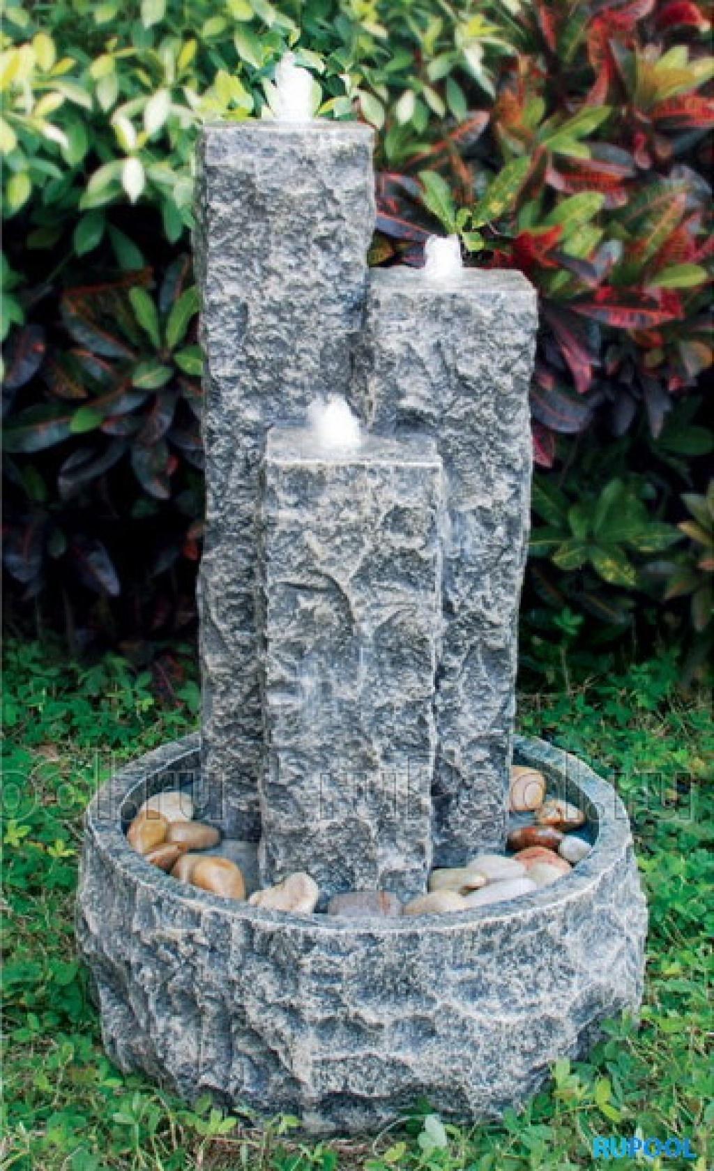 Декоративный фонтан из камня своими руками