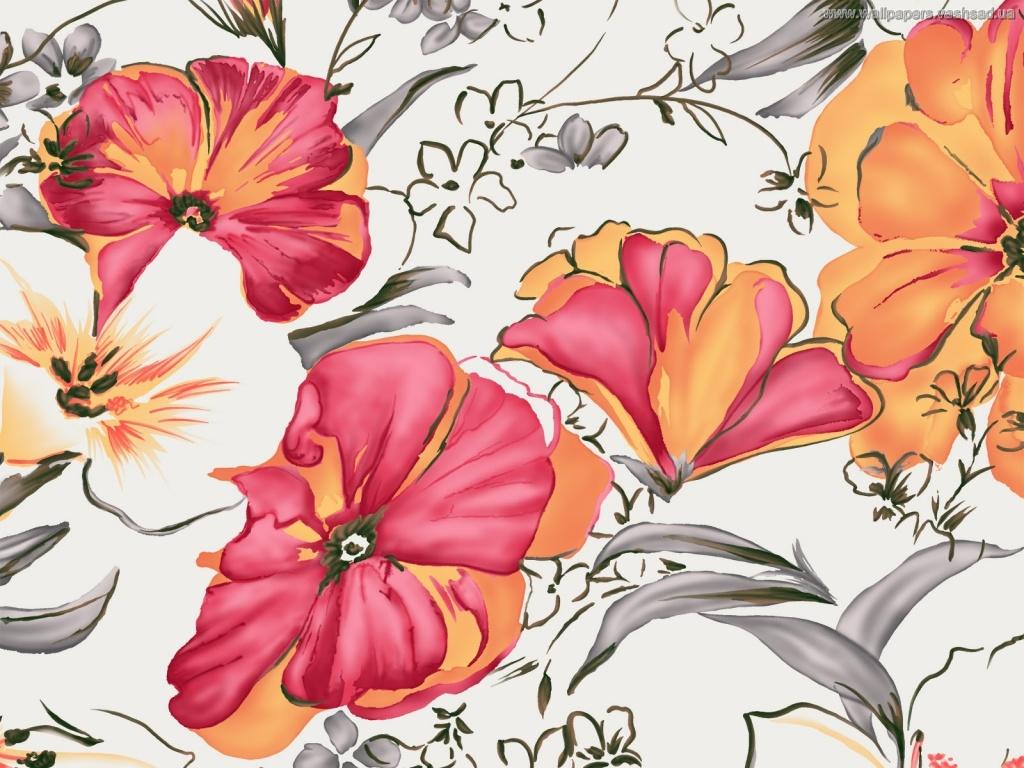 Красивые рисованные картинки цветы 2