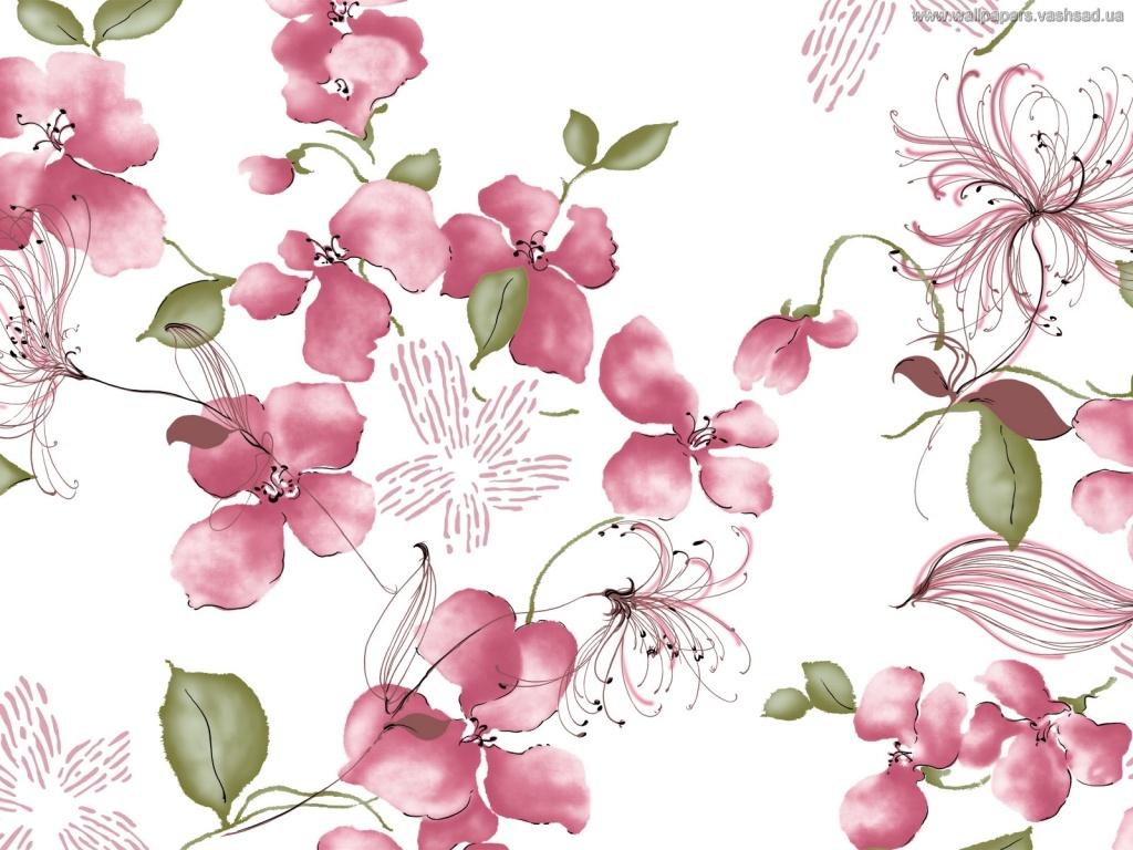 Нарисованные картинки цветов 6