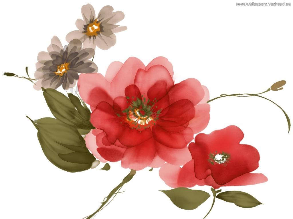 Картинки цветов гуашью 4