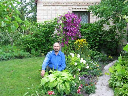 Сад на стандартном участке сад