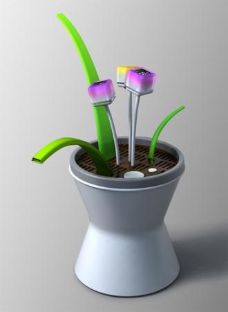 Flower Nurse - концепт электронного растения