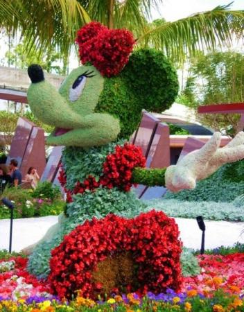 Диснейлэнд фигуры из цветов